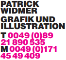 Patrick Widmer | Grafik und Illustration